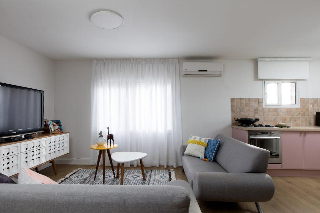 עיצוב פנים תל אביבי לסלון דירה בתל אביב
